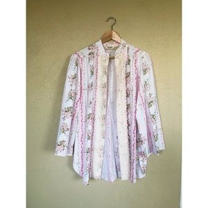 Victoria's Secret pink white rose sleep shirt